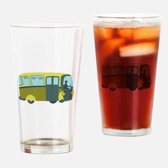 City Bus Drinking Glass