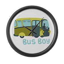 Bus Boy Large Wall Clock
