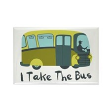 I Take The Bus Magnets