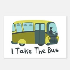 I Take The Bus Postcards (Package of 8)