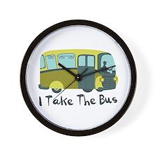 I Take The Bus Wall Clock