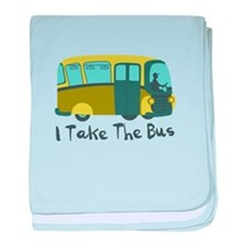 I Take The Bus baby blanket
