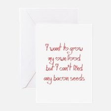 bacon-seeds-jel-red Greeting Cards