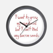 bacon-seeds-jel-red Wall Clock