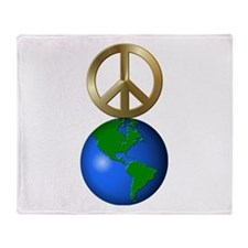 Funny Peace on earth Throw Blanket