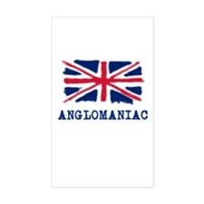 Anglomaniac with Union Jack Rectangle Decal