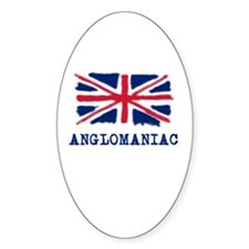 Anglomaniac with Union Jack Oval Decal