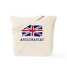 Anglomaniac with Union Jack Tote Bag