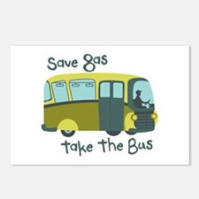 Save Gas, Take The Bus Postcards (Package of 8)