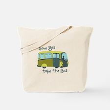 Save Gas, Take The Bus Tote Bag