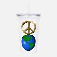 Cute Peace earth Acrylic Double-wall Tumbler