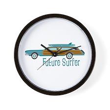Future Surfer Wall Clock