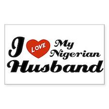 I Love my Nigerian Husband Rectangle Decal