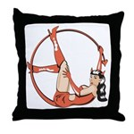 She-Devil Pin-Up Girl Throw Pillow