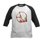 She-Devil Pin-Up Girl Kids Baseball Jersey