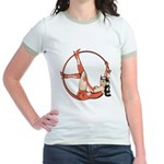 She-Devil Pin-Up Girl Jr. Ringer T-Shirt