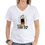 Friday Garfield Women's V-Neck T-Shirt