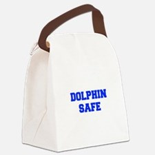 DOLPHIN-SAFE-FRESH-BLUE Canvas Lunch Bag