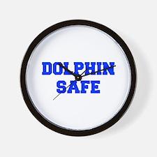 DOLPHIN-SAFE-FRESH-BLUE Wall Clock