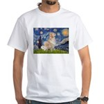 Starry Night & Golden White T-Shirt