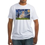 Starry Night & Golden Fitted T-Shirt
