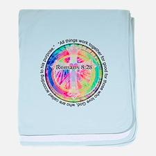Cute Tye dye peace hippie baby blanket