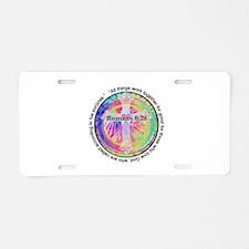 Cute Tye dye Aluminum License Plate