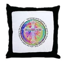 Cute Religious symbols Throw Pillow