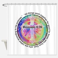 Cute Religious Shower Curtain
