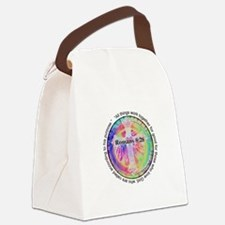Funny Tye dye peace hippie Canvas Lunch Bag