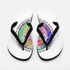 Cute Tye dye peace hippie Flip Flops
