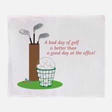 Bad Day Of Golf Throw Blanket