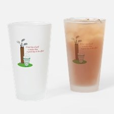 Bad Day Of Golf Drinking Glass