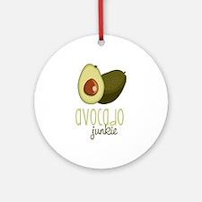 Avocado Junkie Ornament (Round)