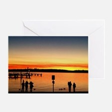 Silhouttes At Sunset Greeting Card