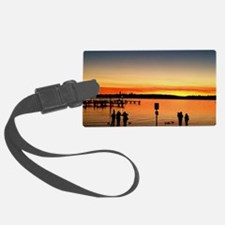 Silhouttes At Sunset Luggage Tag