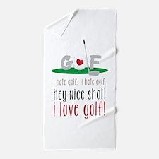 I Love Golf Beach Towel
