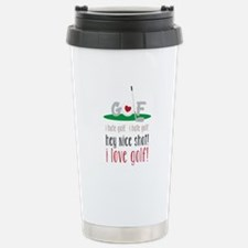 I Love Golf Travel Mug