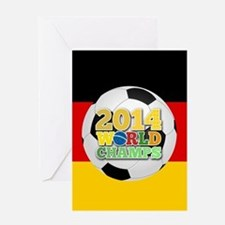 2014 World Champs Ball - Germany Greeting Cards