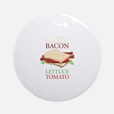Bacon Lettuce Tomato Ornament (Round)