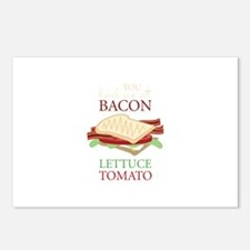 Bacon Lettuce Tomato Postcards (Package of 8)