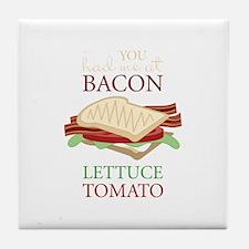 Bacon Lettuce Tomato Tile Coaster