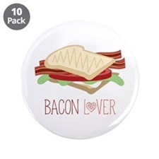 "Bacon Lover 3.5"" Button (10 pack)"