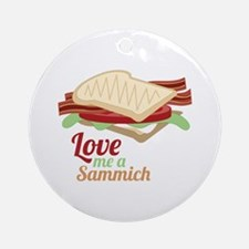 Sammich Love Ornament (Round)