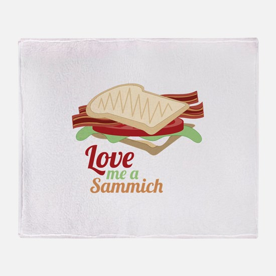 Sammich Love Throw Blanket