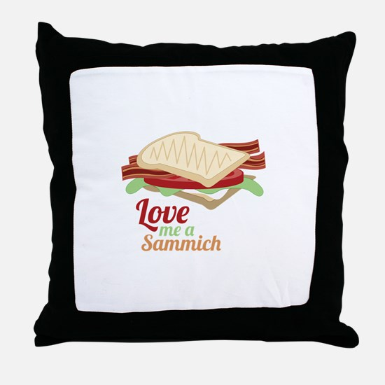 Sammich Love Throw Pillow