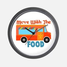 Move With The Food Wall Clock