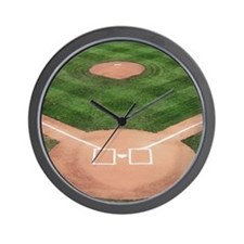 Baseball Diamond Wall Clock