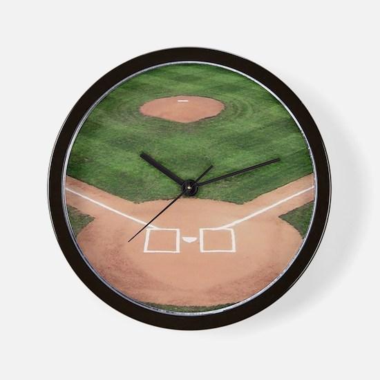 Baseball Diamond Wall Clock