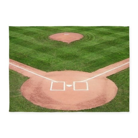 Baseball Diamond 5 X7 Area Rug By Sportsnuts